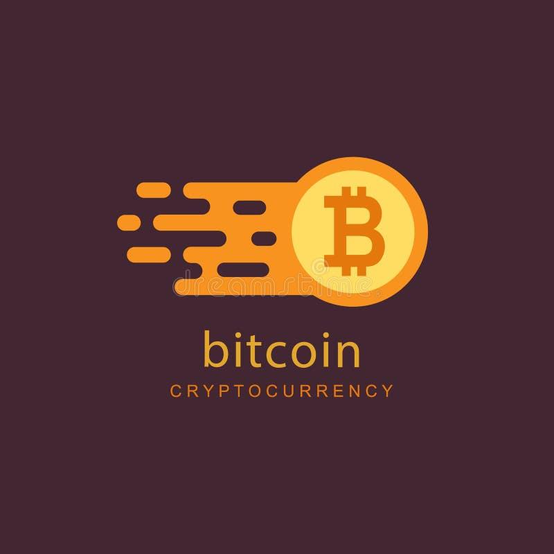 Bitcoinconcept Sigh van het Cryptocurrencyembleem Digitaal geld royalty-vrije illustratie