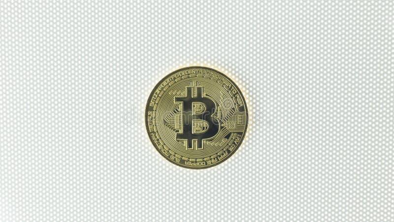 Bitcoincrypto het beeldclose-up van het munt elektronische geld royalty-vrije stock fotografie