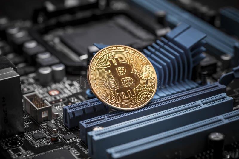 Bitcoincrypto munt royalty-vrije stock afbeeldingen