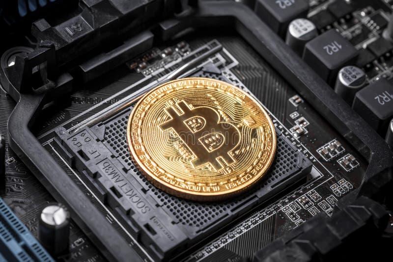 Bitcoincrypto munt royalty-vrije stock foto's