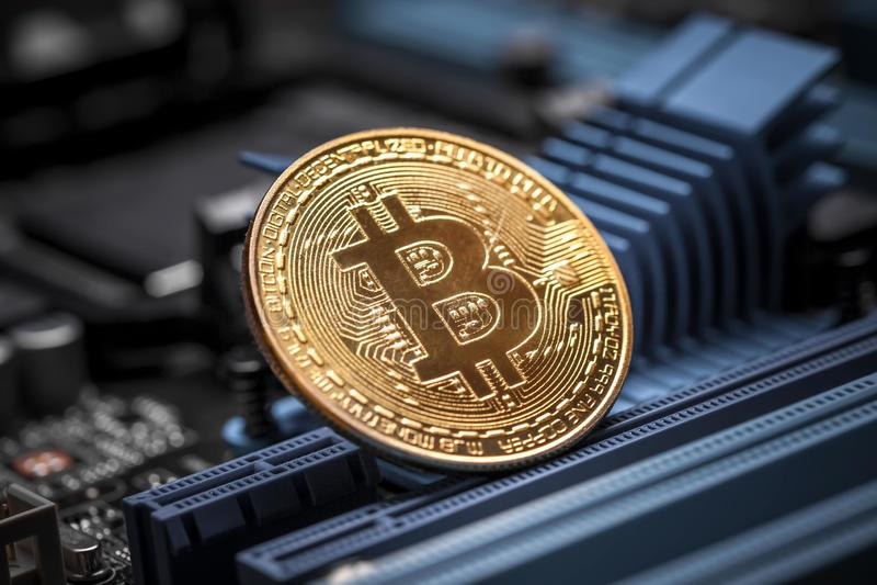 Bitcoincrypto munt royalty-vrije stock foto