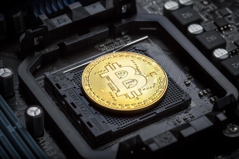 Bitcoincrypto munt royalty-vrije stock afbeelding