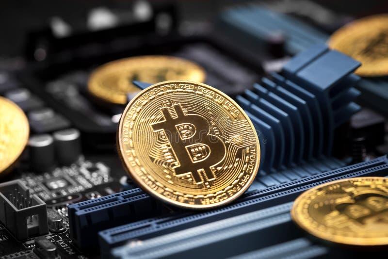 Bitcoincrypto munt stock foto