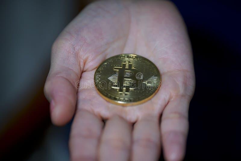 Bitcoinmuntstukken royalty-vrije stock afbeeldingen