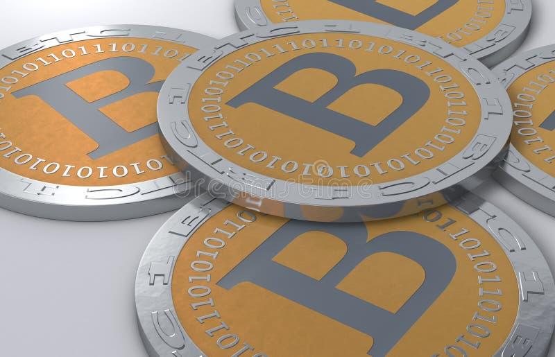 Bitcoinmuntstukken vector illustratie