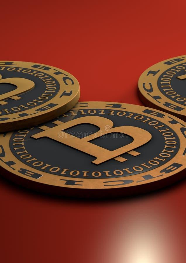 Bitcoinmuntstukken royalty-vrije illustratie