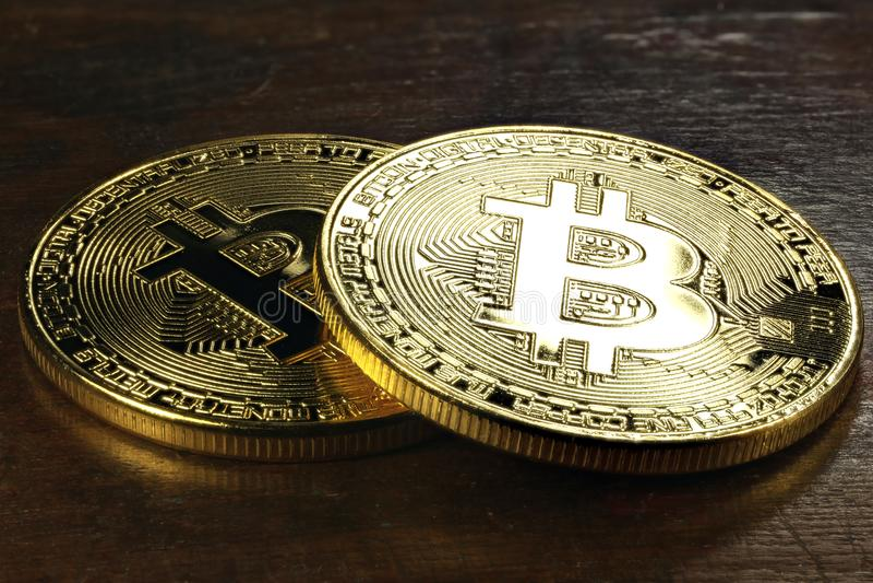 Bitcoins fotografia stock