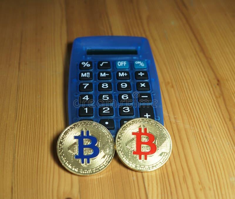 Bitcoins στοκ φωτογραφία