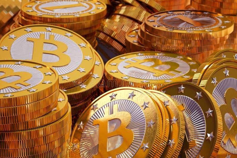 Bitcoins fotos de stock