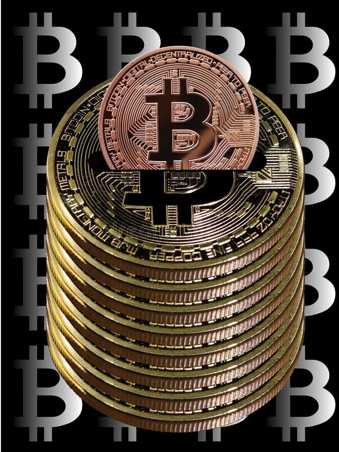 Bitcoins besparingkruka vektor illustrationer