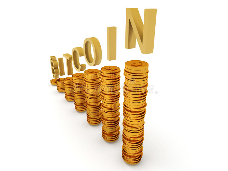 Bitcoins stock photography