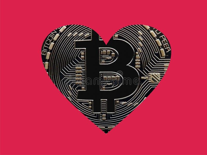Bitcoins del amor libre illustration