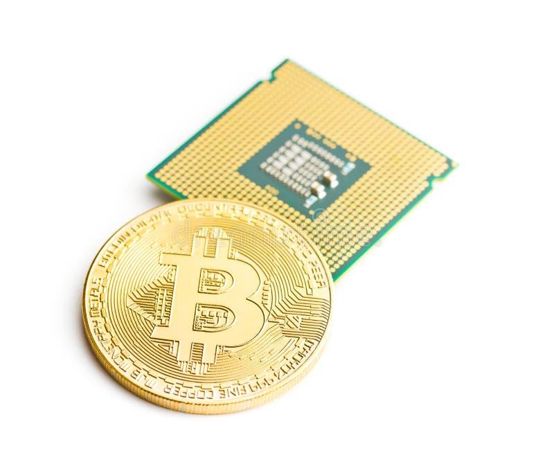 Download Bitcoins E Processador Central Dourados Foto de Stock - Imagem de eletrônico, corte: 107529648