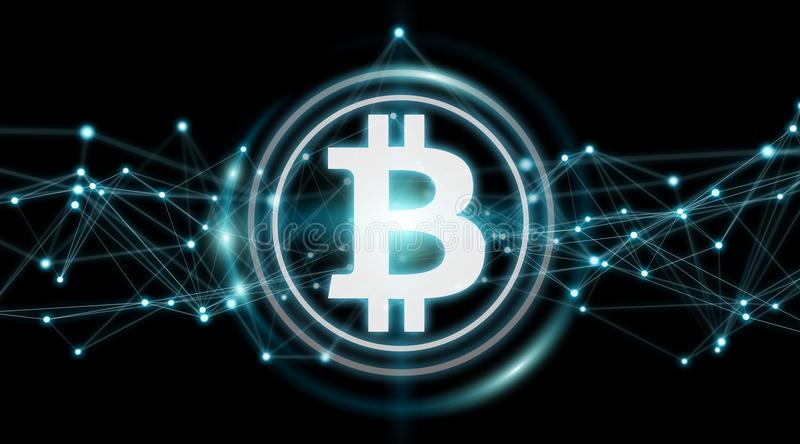 Bitcoins exchanges background 3D rendering royalty free illustration