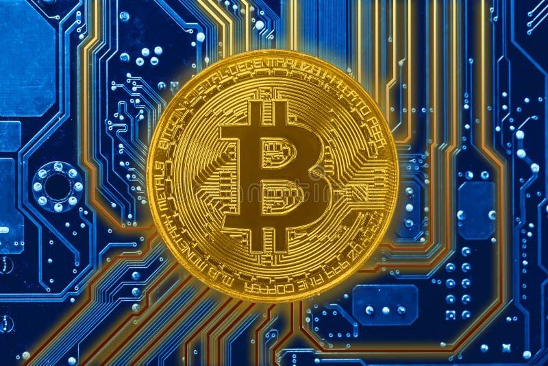 Bitcoins faktiskt pengarbegrepp arkivbild