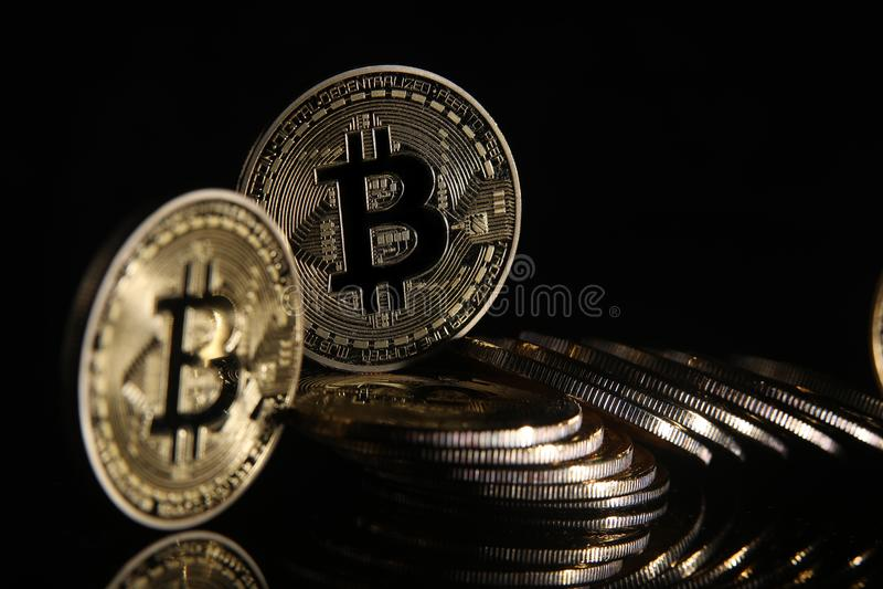 Bitcoins royalty free stock image