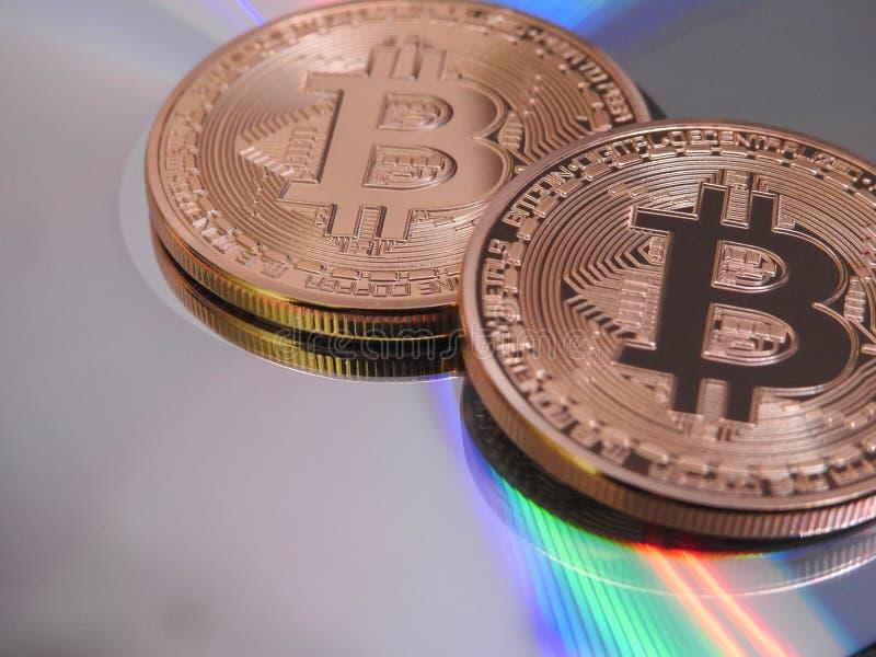 Bitcoins i kolory obraz royalty free