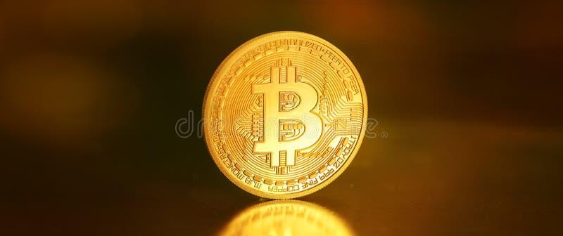 Bitcoins, moeda BTC do bocado o dinheiro virtual novo imagens de stock royalty free