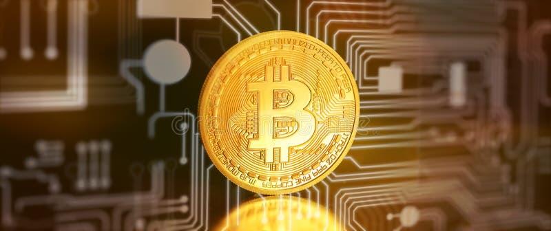 Bitcoins, moeda BTC do bocado o dinheiro virtual novo ilustração royalty free