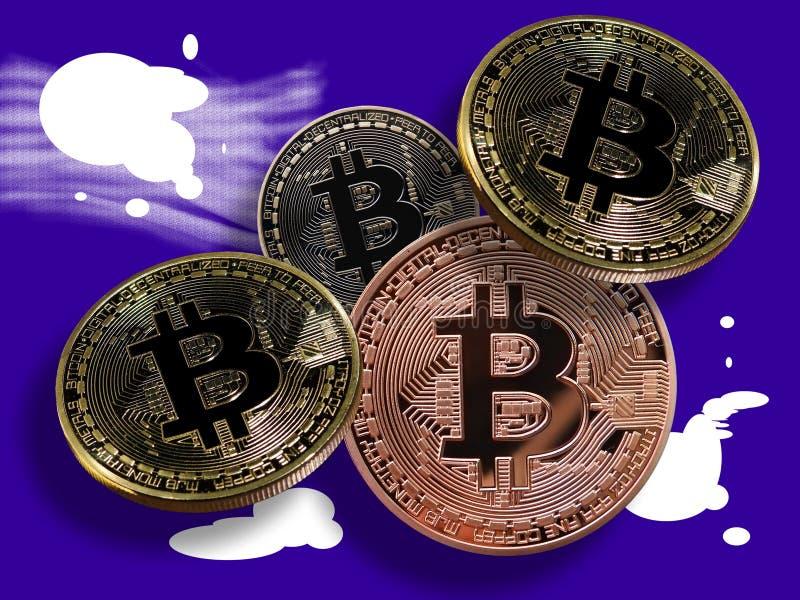 Bitcoins na splatters ilustracji