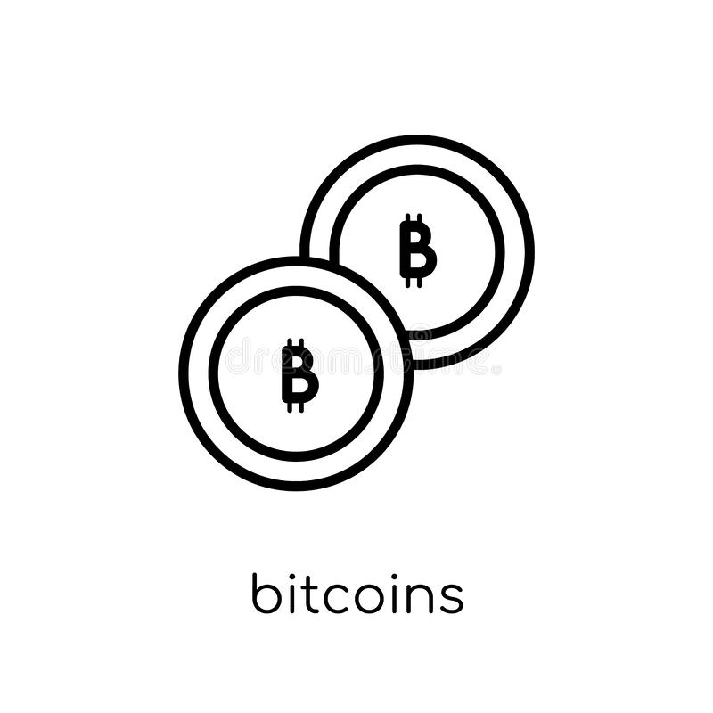 Bitcoins symbol  vektor illustrationer