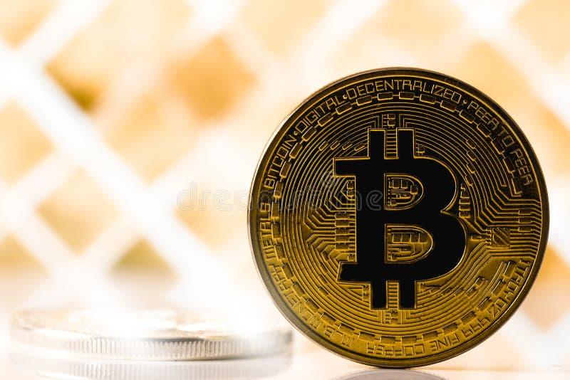 bitcoinsymbol arkivfoton