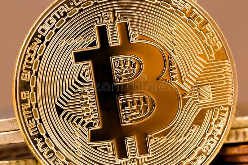 bitcoinsymbol arkivfoto