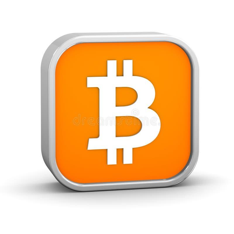 Bitcointeken stock illustratie