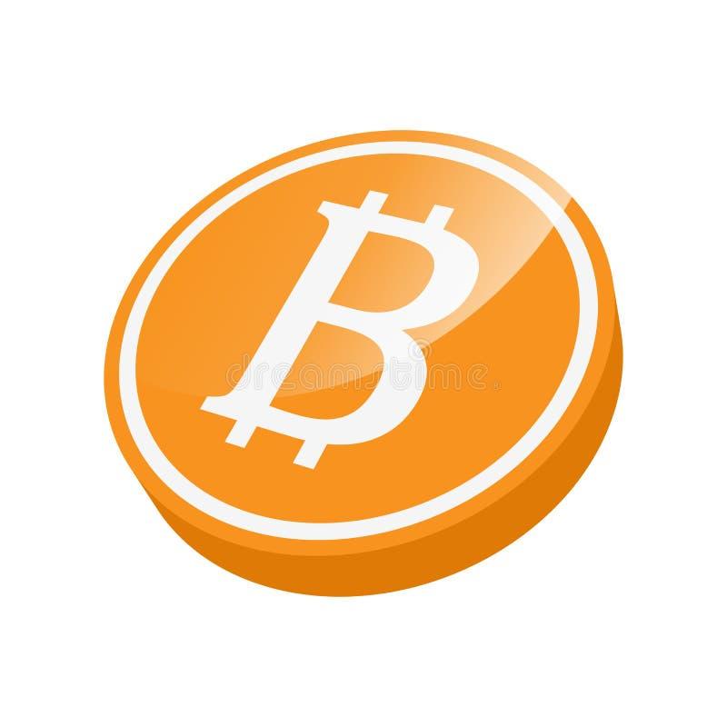 Bitcointeken clipart in oranje wit vector illustratie