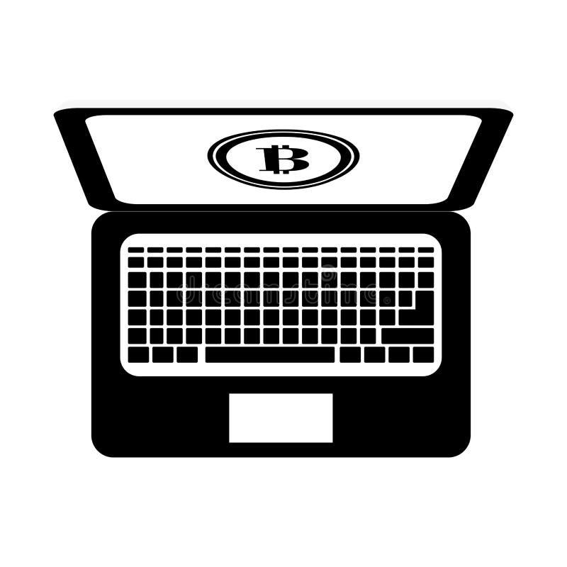 bitcoinvalutadesign royaltyfri illustrationer