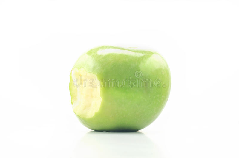 Bite Apple On A White Background Royalty Free Stock Image