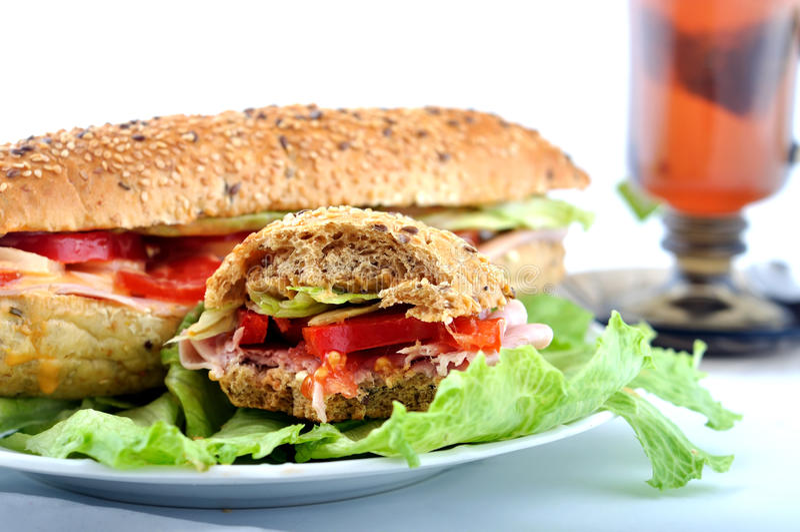 Download Bite sandwich stock photo. Image of american, chicken - 14112760