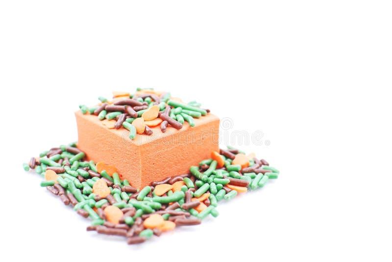 Download Bite Sized Orange Treat stock photo. Image of confetti - 21381026