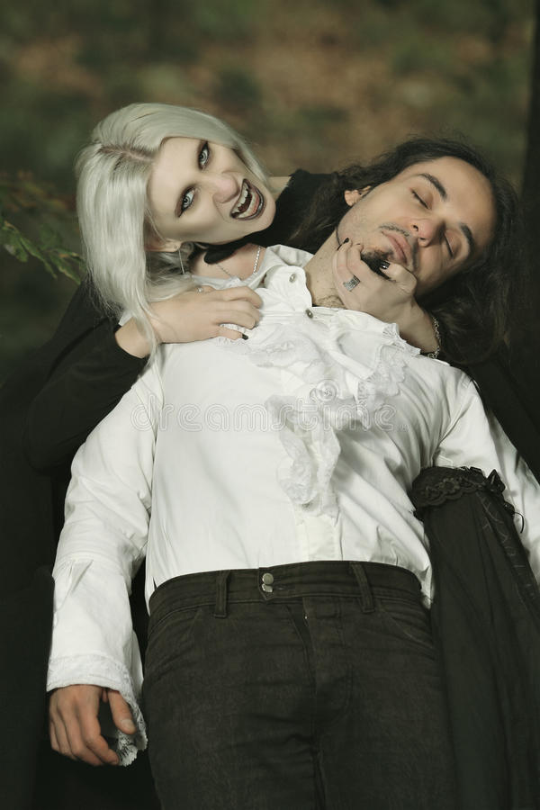 Bite of the vampire stock image