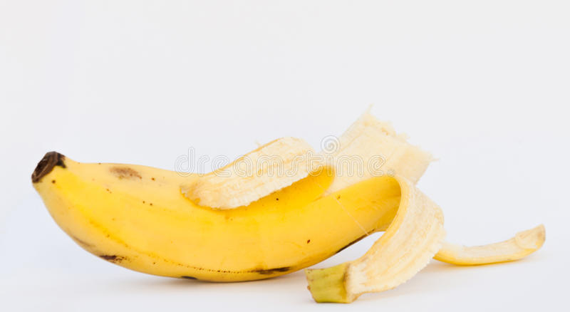 Download Bited Banana On White Background Stock Photo - Image of alone, asia: 36678304