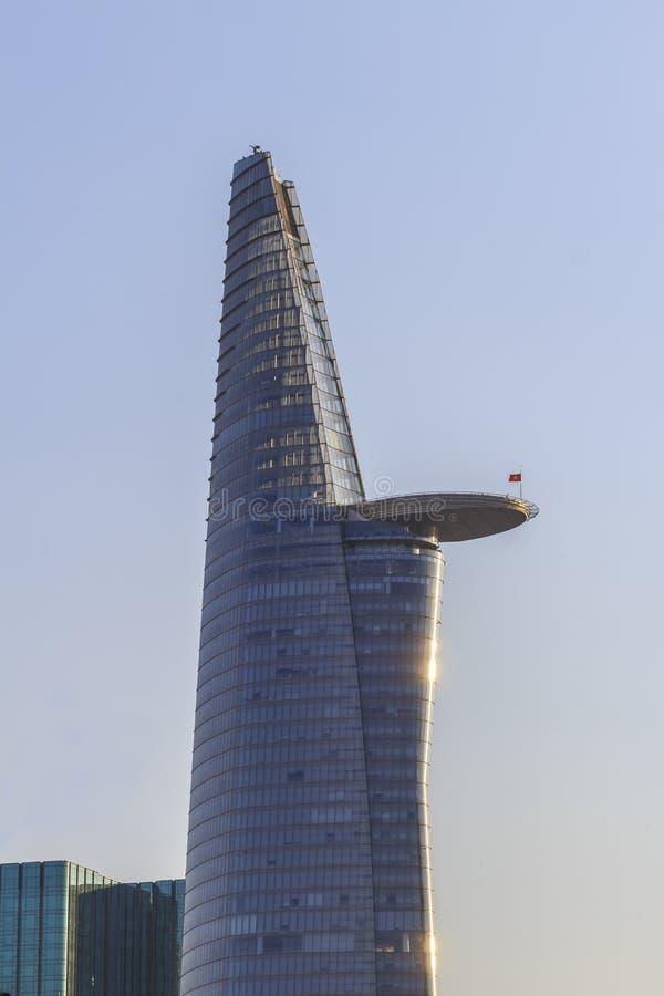 BITEXCO budynek, to jest wysokim całościowym budynkiem w chi minh mieście Ho SAIGON WIETNAM, KWIECIEŃ - 20, 2016 - zdjęcia royalty free