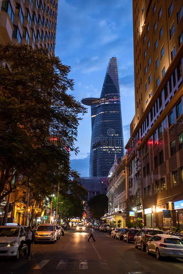 Bitexco Financial Tower in Ho Chi Minh, Vietnam. HO CHI MINH CITY, VIETNAM - MARCH 23: Bitexco Financial Tower stands at a height of 262.5 meters and, as of stock photos