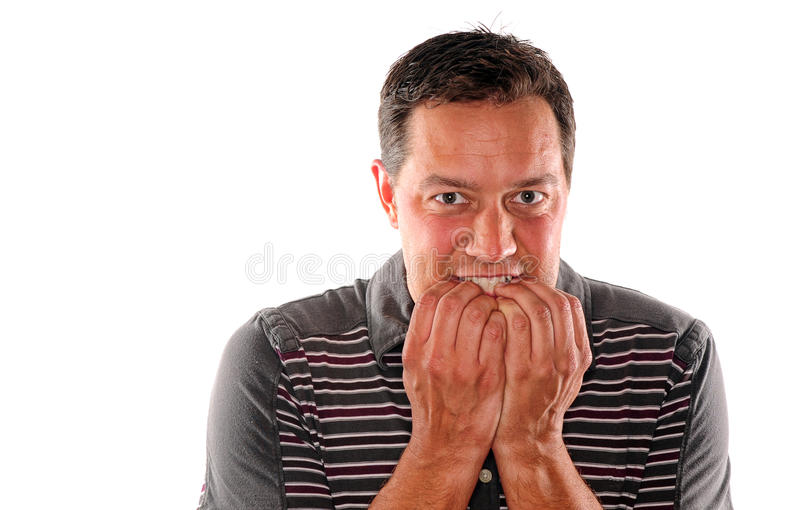 Biting nails out of fear stock photo. Image of scared - 25104588