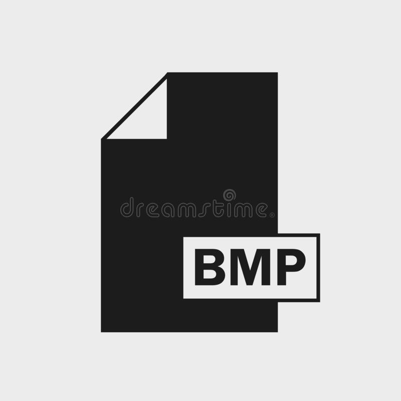 Bitmap Image BMP File format Icon. On gray background vector illustration