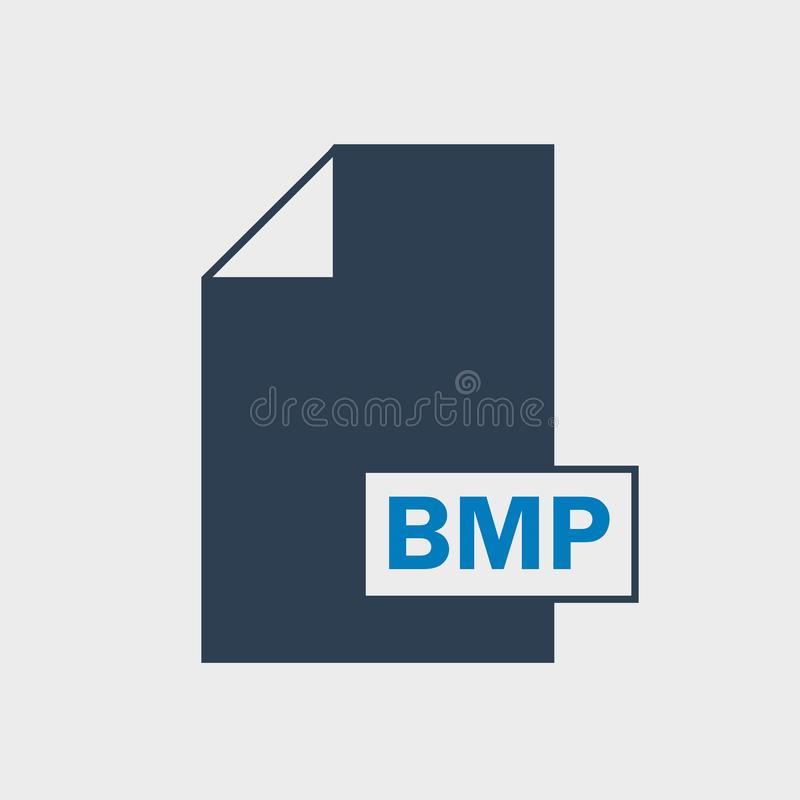 Bitmap Image BMP File format Icon. On gray background stock illustration