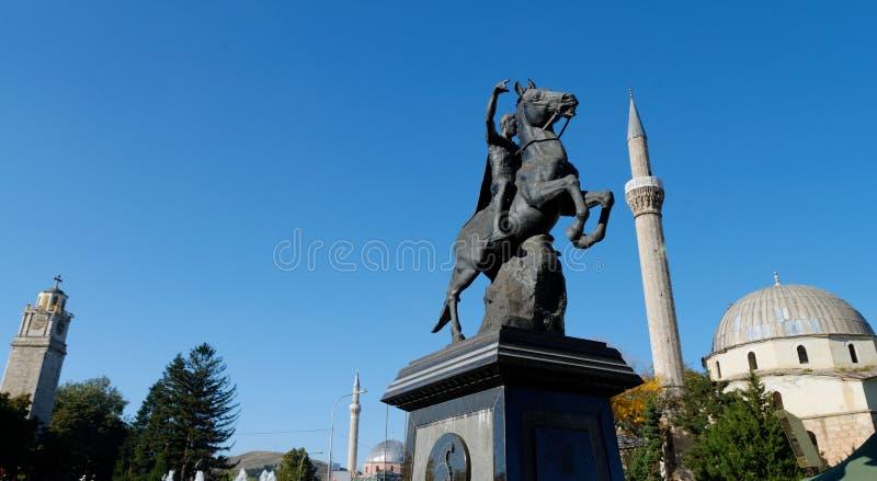 BITOLA, MACEDONIA,. The monument of King Filip II in Bitola, Macedonia royalty free stock photography