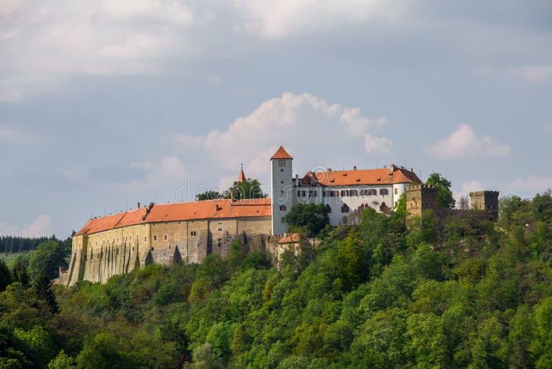 Bitov Castillo medieval en Moravia imagen de archivo libre de regalías