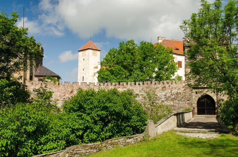 Bitovkasteel, Tsjechische Republiek stock afbeeldingen