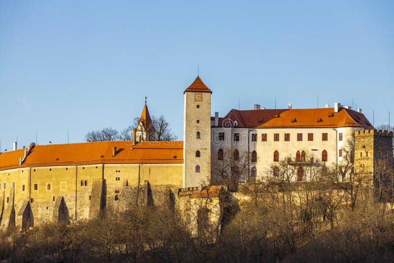 Bitovkasteel, Tsjechische Republiek royalty-vrije stock afbeelding