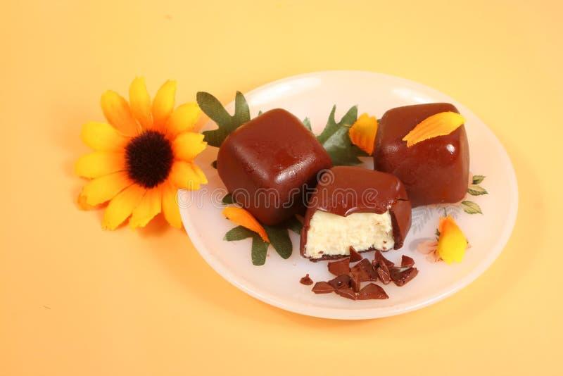 Bits do bolo de queijo imagens de stock