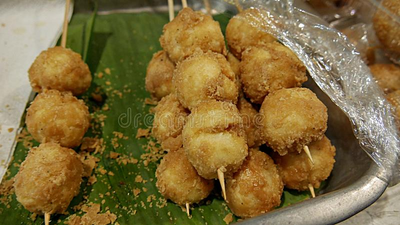 Bitso-bitso, a popular street food in the Philippines stock photography
