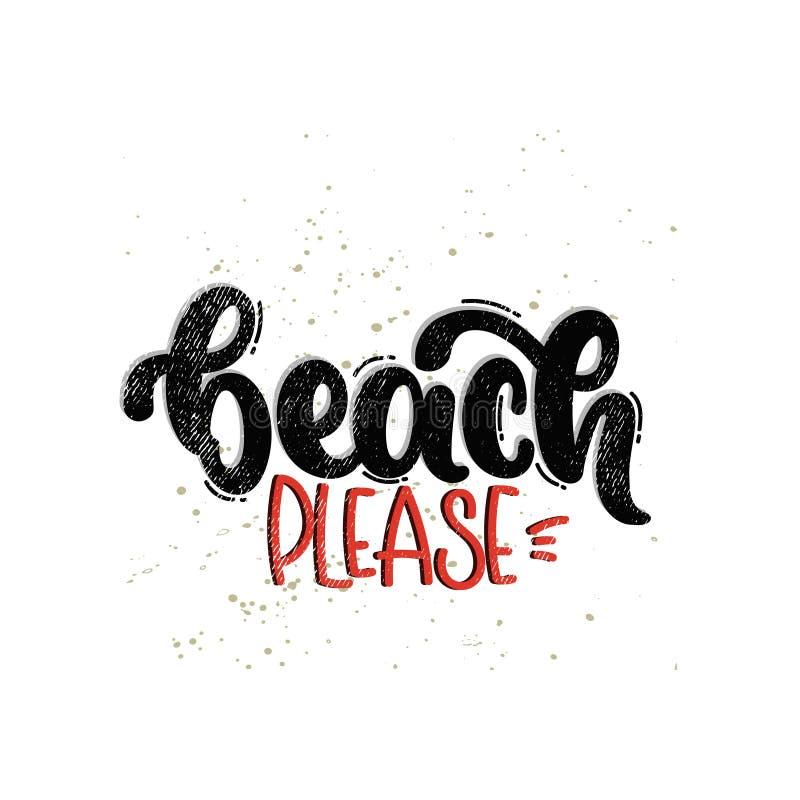 Bitte beschriftender Strand lizenzfreies stockbild