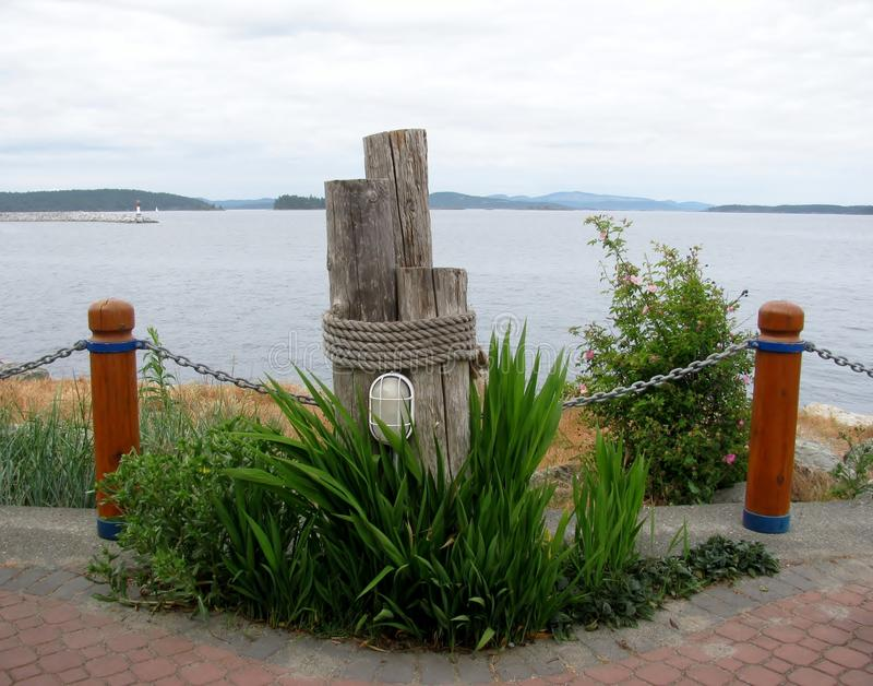 Bitte di legno decorative Sidney, BC, il Canada immagini stock