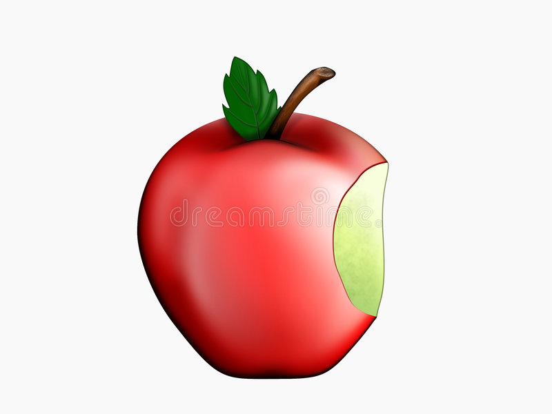 Download Bitten apple stock illustration. Image of healthy, delicious - 18788