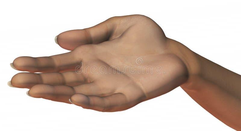 Bitten der Hand lizenzfreie abbildung